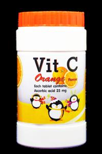วิต ซี กลิ่นส้ม (ผลิตภัณฑ์เสริมอาหารวิตามินซี)